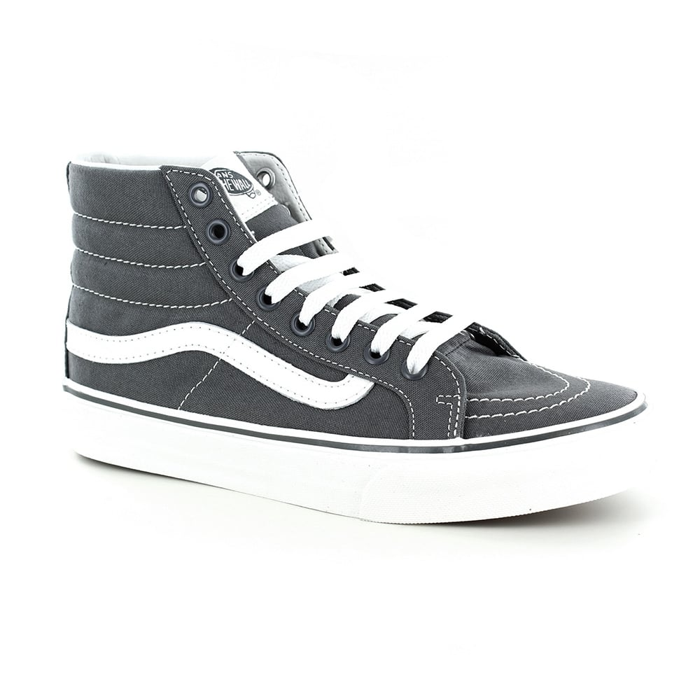 4e298c1dfe Vans VN00018IIYK Sk8-Hi Slim Womens Canvas Skate Shoes - Castlerock Grey