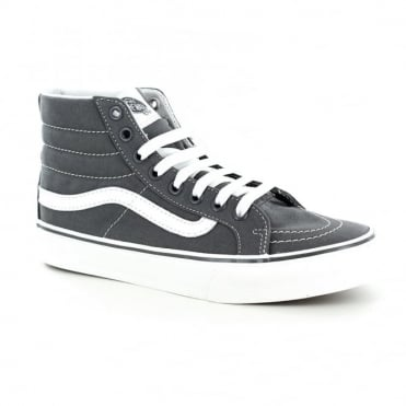 Vans VN00018IIYK Sk8-Hi Slim Womens Canvas Skate Shoes - Castlerock Grey