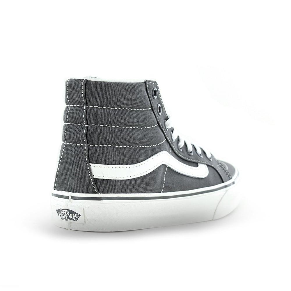 Vans VN00018IIYK Sk8-Hi Slim Womens Canvas Skate Shoes - Castlerock Grey e9e5e21c3