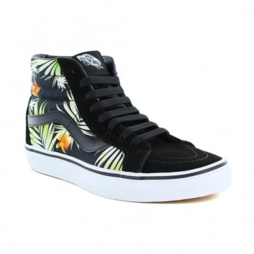 Vans VN0A2XSBMLD Sk8-Hi Reissue Unisex Canvas Skate Shoes - Decay Palms Black