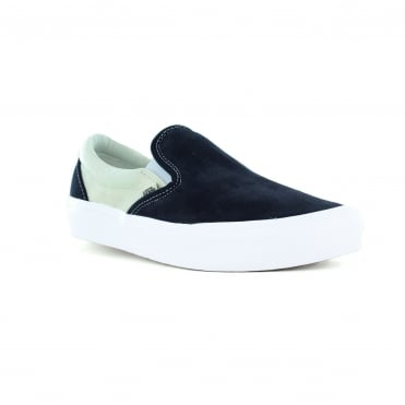 Vans VN0A2Z63R3K Unisex Slip-On Lite Leather and Canvas Shoes - Blue and Marshmallow