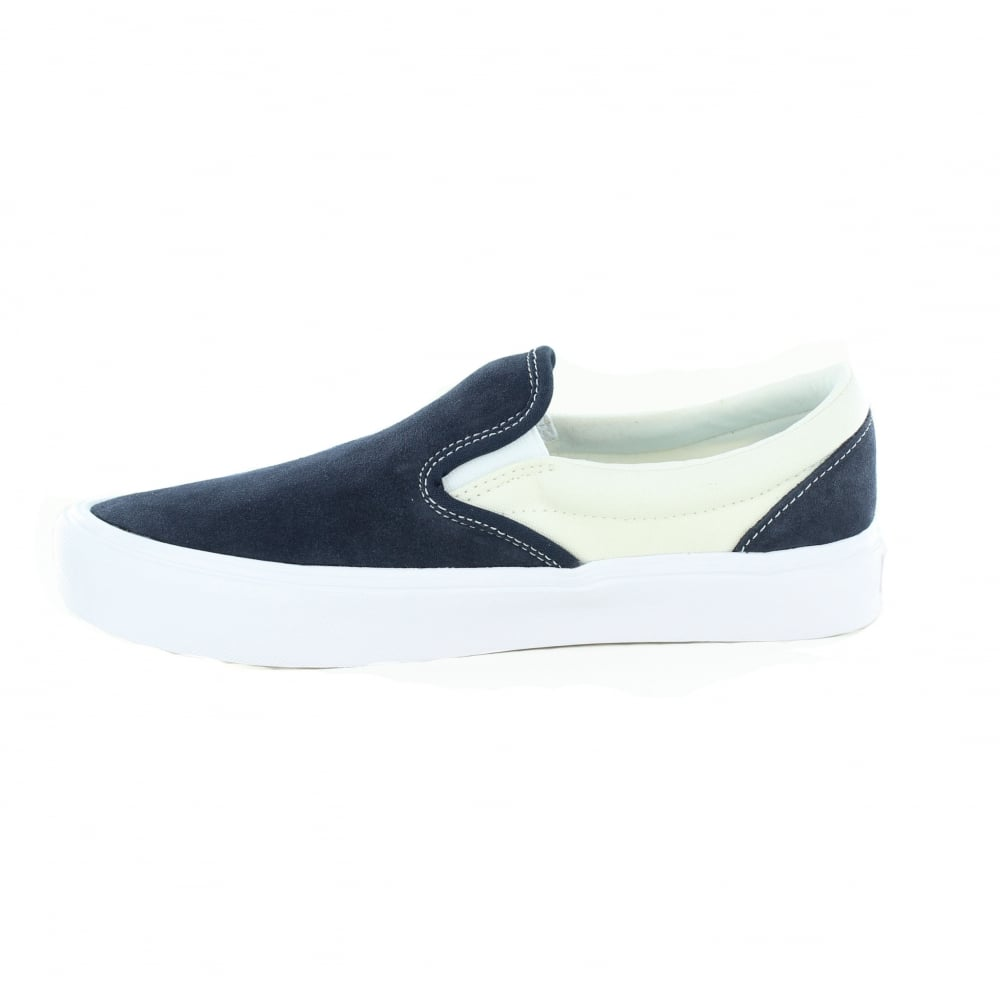 Vans VN0A2Z63R3K Unisex Slip-On Lite Leather and Canvas Shoes - Blue and  Marshmallow dce771c1e