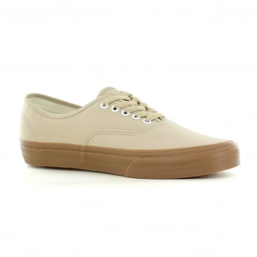 Vans VN0A38EMQA2 Authentic Unisex Canvas Skate Shoes - Sesame/Gum