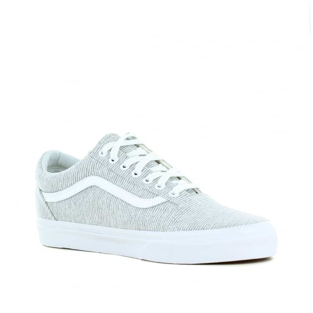 ea568f171e Vans VN0A38G1I1F Old Skool Jersey Womens Canvas Skate Shoes-Grey White