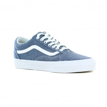 Vans VN0A38G1Q8U Old Skool Jersey Unisex Canvas Skate Shoes - Blue & True White