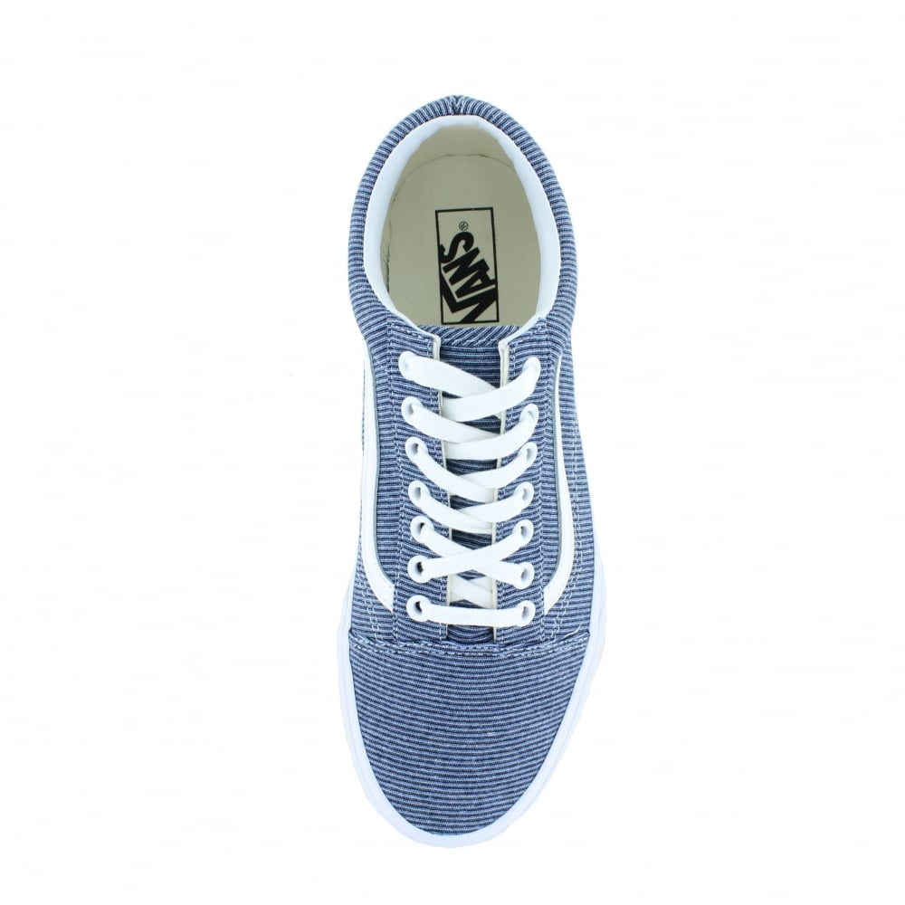 Vans VN0A38G1Q8U Old Skool Jersey Unisex Canvas Skate Shoes - Blue   True  White 716c61969