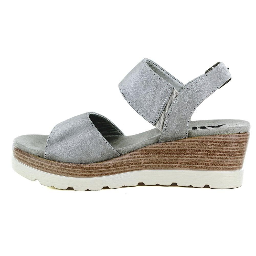 XTI 48859 Womens Wedge Sandals - Grey