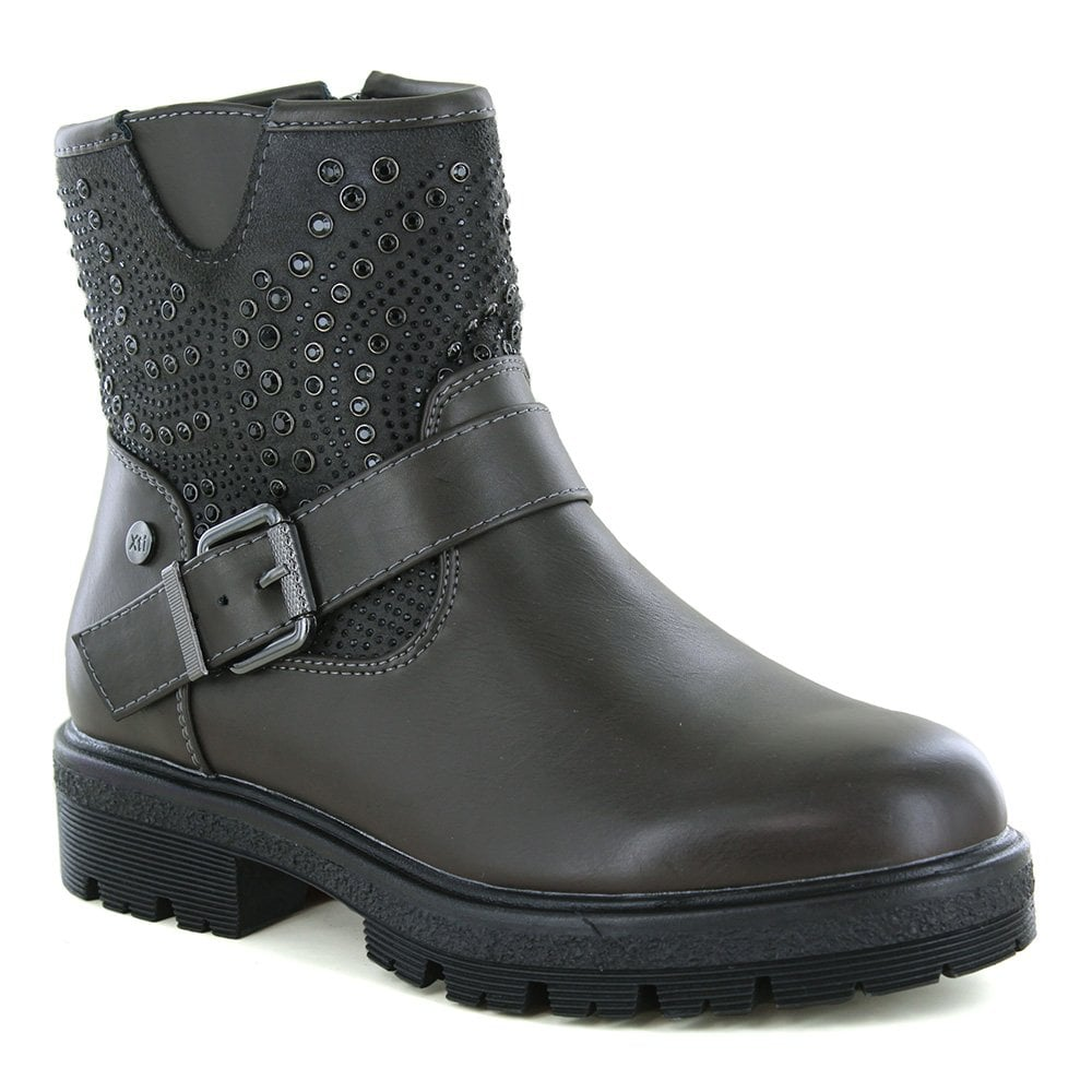 XTI 49381 Womens Studded Ankle Boots